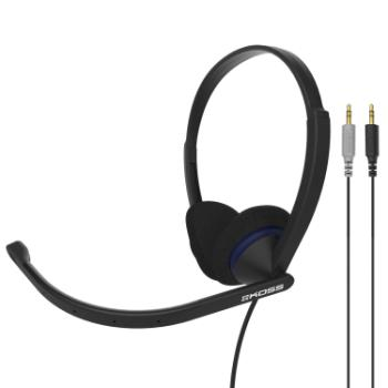 KOSS Headset CS200 On-Ear Mic Svart