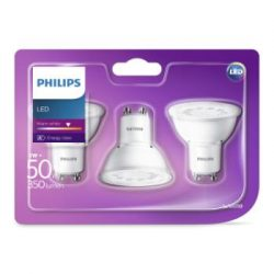 Philips 3-pack LED GU10 50W (5W) 350lm
