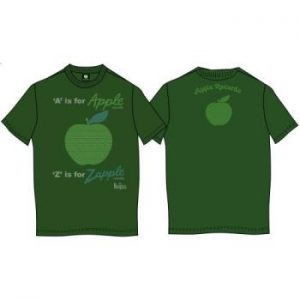 The Beatles: Unisex Premium Tee/A is for Apple (Back Print) (X-Large)