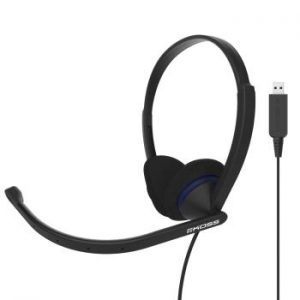 KOSS Headset CS200-USB On-Ear Mic Svart