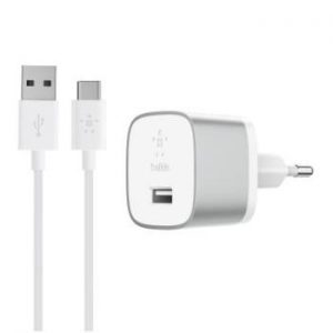 Belkin Quick Charge 3.0 Home Charger with USB-A to USB-C Cable 1.2m Silver /F7U034vf04-SLV