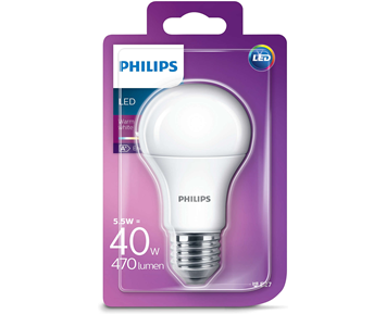 Philips LED 5.5W (40W) E27 A60