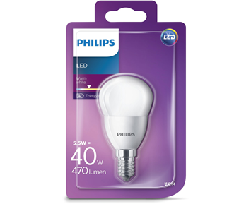 Philips Led klot (5.5W)40W E14 frostad