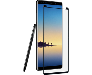 ZAGG InvisibleShield Glass Contour Black Galaxy Note 8