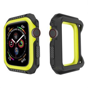 Apple Watch Series 4 Silikonskal - 44mm - Svart / Gul
