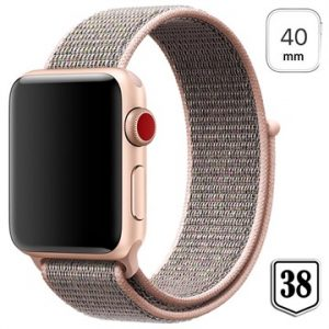 Apple Watch Series 4/3/2/1 Nylonrem - 40mm, 38mm - Roséguld