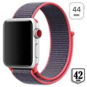 Apple Watch Series 4/3/2/1 Nylonrem - 44mm, 42mm - Rosa