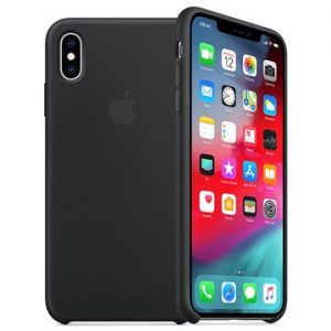 iPhone XS Apple Silikonskal MRW72ZM/A - Svart