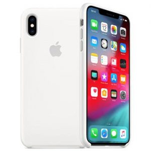 iPhone XS Apple Silikonskal MRW82ZM/A - Vit