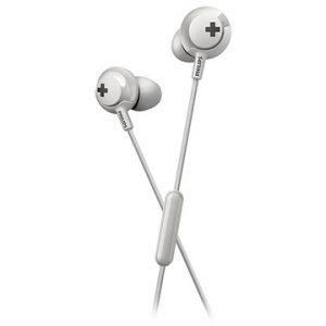 Philips Bass+ In-Ear Hörlurar med Mikrofon SHE4305WT - Vit