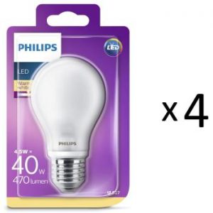 Philips LED E27 Std 40W Frost 470 4st
