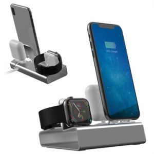 3-in-1 Aluminiumlegering Laddningsstation - iPhone, Apple Watch, AirPo