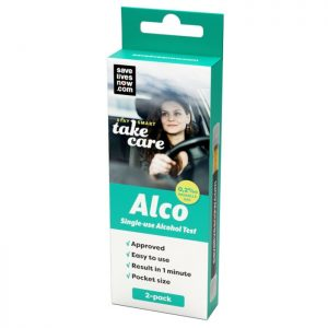 Alco Engångs-alkotest 2-pack
