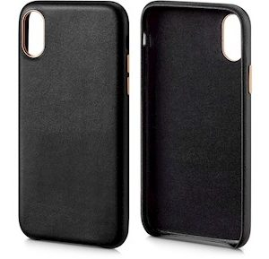 Andersson Genuine Leather Case Black for Apple iPhone X/XS