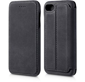 Andersson Premium Flip Wallet Case Black for Apple iPhone 7/8