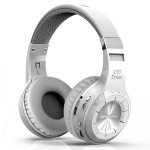 Bluedio Turbine HT, bluetooth, on-ear, 57mm element, 20 h batteritid, mikrofon - Vit