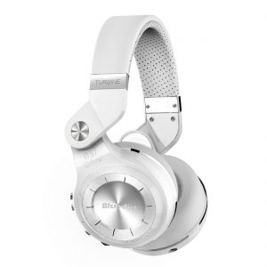 Bluedio Turbine T2s, Ihopvikbara Bluetooth-hörlurar med 57mm element, Mikrofon, 40 h batteritid - Vit