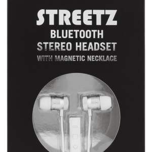 STREETZ Bluetooth in-ear headset, Silver