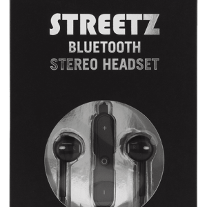 STREETZ Bluetooth in-ear headset, Svart
